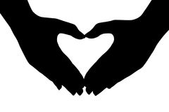 Heart Made Of Hands Stock Photos