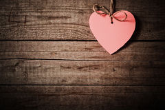 Free Heart Made Of Paper On Wooden Background Royalty Free Stock Images - 36082449