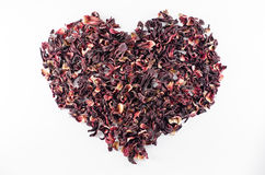 Free Heart Made Of Red Hibiscus Tea Royalty Free Stock Photography - 52808377