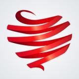 Heart Made Of Ribbon Royalty Free Stock Photo