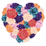 Heart Made Of Roses Royalty Free Stock Photo