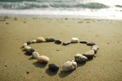 Heart Made Of Stones Royalty Free Stock Photography