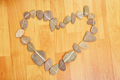 Heart made off stones Stock Images