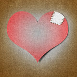 Heart made from old paper Royalty Free Stock Photography
