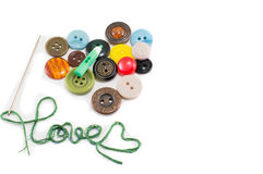 Heart made out of buttons Royalty Free Stock Images