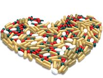 Heart Made out of Pills Stock Photos