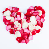 Heart made out of rose petals Stock Photography