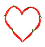 Heart made of pepper Royalty Free Stock Photos
