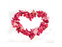 Heart made of petals of roses Royalty Free Stock Photography