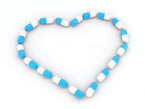 Heart made with pills Royalty Free Stock Photo