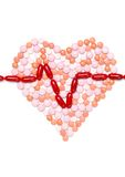 Heart is made of pills Royalty Free Stock Photo