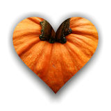Heart made from pumpkin. Heart with shadow made from pumpkin texture royalty free illustration