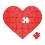 Heart made of puzzles Royalty Free Stock Photography