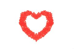 Heart made ??of red beads Royalty Free Stock Image