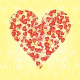 Heart made from red hearts Stock Photo