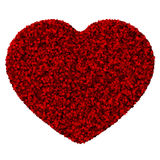 Heart made from red leave. Beautiful graphic made of green leaves on gradient background Royalty Free Stock Image