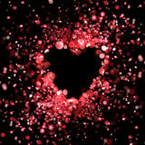 Heart made of red lights Stock Images