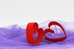 Heart on white background stock image