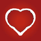 Heart made of red ragged paper Stock Image