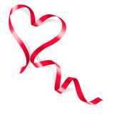 Heart made of red ribbon Royalty Free Stock Photography