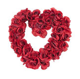 Heart Made of Red Roses Royalty Free Stock Photo