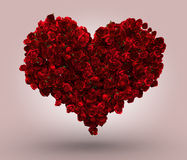 Heart Made of Red Roses Royalty Free Stock Photos