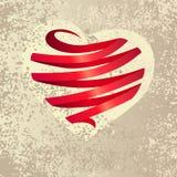 Heart made of ribbon Stock Photography