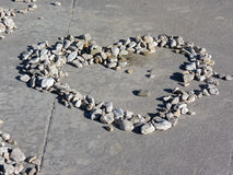 Heart made of rocks Stock Photography