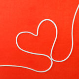 Heart made from rope Stock Photography