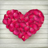 Heart made from rose petals. EPS 10 Stock Photography