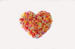 Heart made of S-clips. For Rainbow Loom bracelets Stock Image