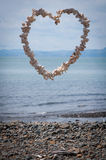 Heart made of shells Royalty Free Stock Images