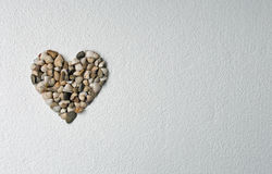 Heart made of shells Stock Image