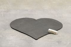 Heart made of slate Stock Photo