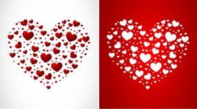 Heart made of small hearts Royalty Free Stock Image