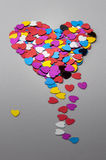 The heart made with small hearts Stock Images