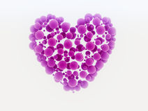 Heart made  of small spheres Royalty Free Stock Image