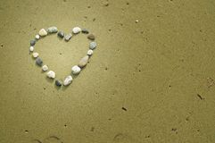 Heart made of small stones Stock Photography