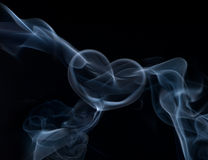 Heart made of smoke Royalty Free Stock Image