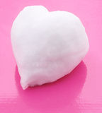 Heart made of snow. Royalty Free Stock Photography