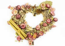 Heart made from spices/nature Royalty Free Stock Photography