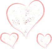 Heart made of spray paint Stock Photography