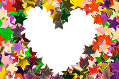 Heart made of stars Royalty Free Stock Photo