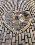 Heart made of stone pavers Royalty Free Stock Image