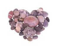Heart made from stones Stock Image