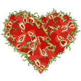 Heart made of Strawberries Royalty Free Stock Photography