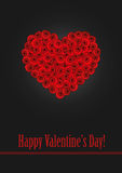 A heart made of stylized red roses.  Royalty Free Stock Photo