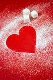 Heart made of sugar Stock Photo
