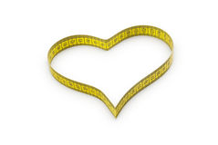 Heart made of tape measure Stock Photo