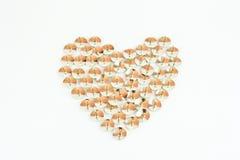 Heart made of thumbtack. fake Stock Photo